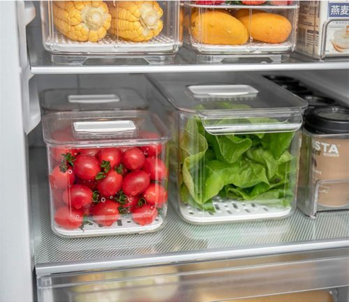 13. iPEGTOP Produce Saver Food Refrigerator Storage Containers with Lids