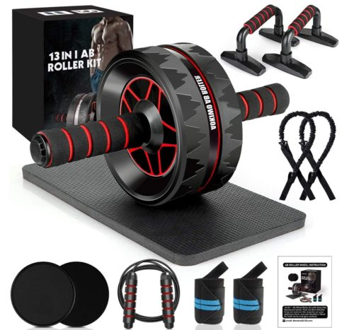 14. MIBOTE Ab Roller Wheel Kit for Abdominal Home ABS Gym