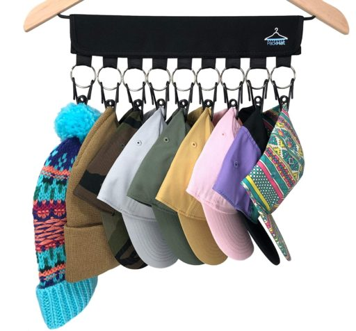 15. Packhat Stainless Steel Hat Organizer with 9 Hanger Holder - Baseball Hat Storage