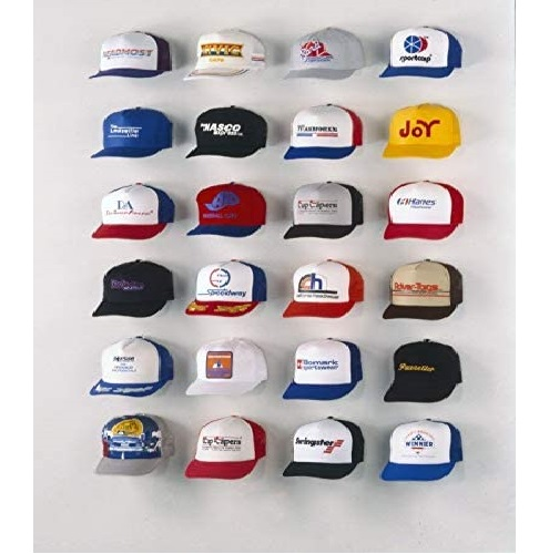 7. Cap Capers Wall Mounted Hat Organizer - Baseball Cap Storage Rack