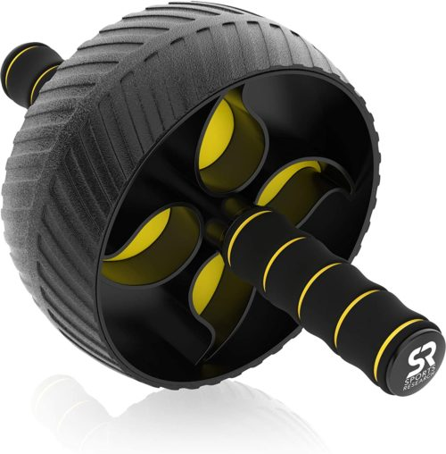 7. Sports Research Sturdy Ab Wheel Roller with Knee Pad for Home Workout