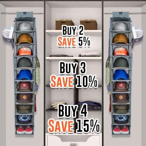 8. DASH Ultimate Hat Organizer Closet with 10 Shelf for Hat Storage Holder