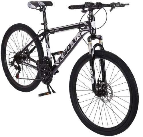 9. Hmazy Aluminum Mountain Specialized Hybrid Bikes Under 300 for Intermediate to Advanced Riders