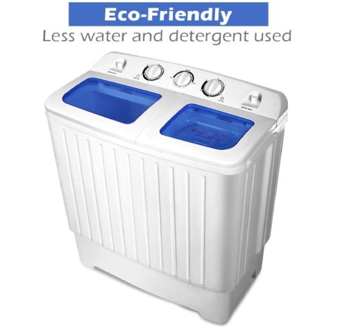 01. Giantex Portable Washer with Compact Twin Tub and Spain Spinner - Best Giantex Portable Washer