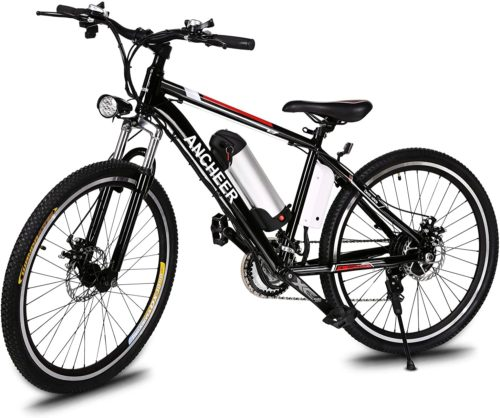 1. ANCHEER Electric Bike Reviews for Adult Play Mountain Bikecycle with Removable Battery