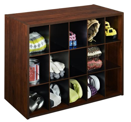 1. ClosetMaid Wooden Shoe Rack Organizer with Dark Cherry Color