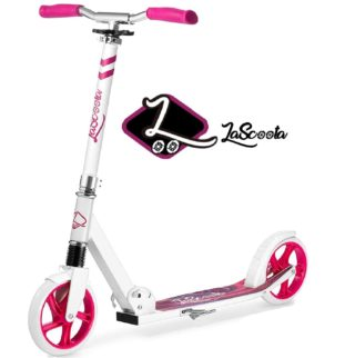 1. Lascoota Two Wheel Scooter for Kid and Adult with Quick Release Folding System - Big Wheel Scooter