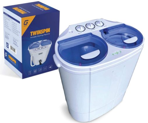 10. Garatic Portable Washing Machine with Built-in Gravity Drain - Compact Portable Washer and Dryer