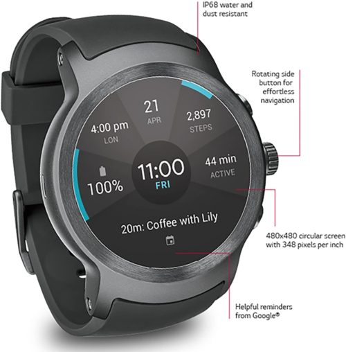 10. LG Bluetooth Smart Watch with Water and Dust Resistant