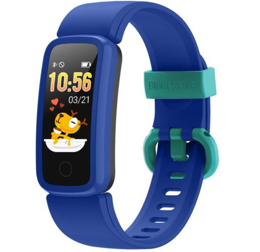 11. BIGGERFIVE Waterproof Kids Fitness Tracker Watch for Exercise with Heart Rate Monitor