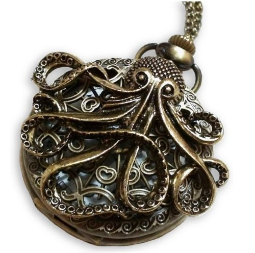 11. CaseCarnival Large Octopus Steampunk Pocket Watch