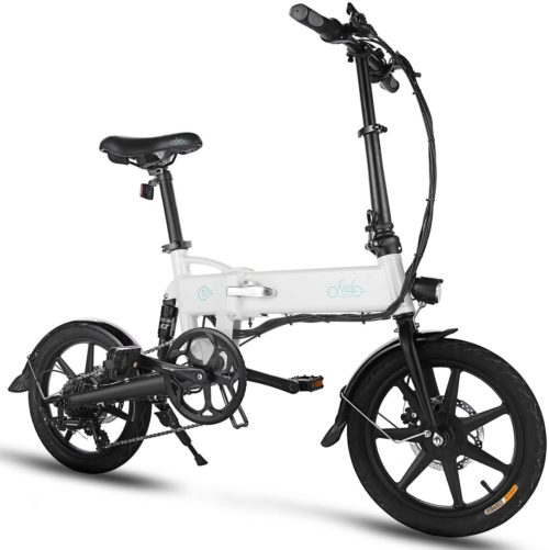 11. FIIDO Folding Aluminum Electric Bicycle under 1000 with 6 Speed Professional Rear