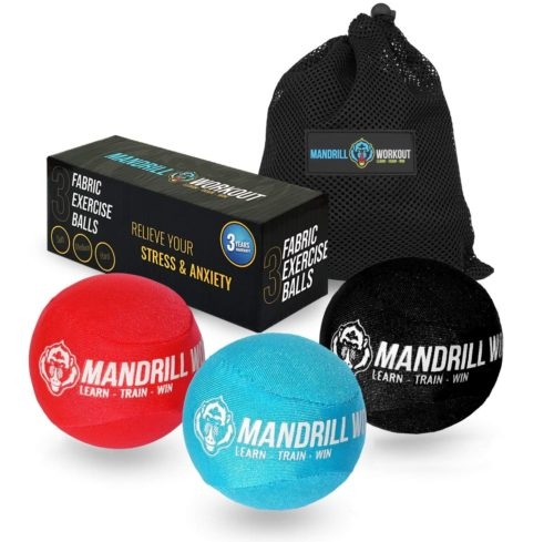 11. Mandrill Hand Holding Ball Grip for Stress Relief and Finger Strengthen