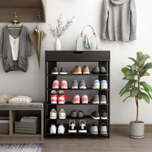 11. Soges 5-Tier Wood Shoe Rack Organizer