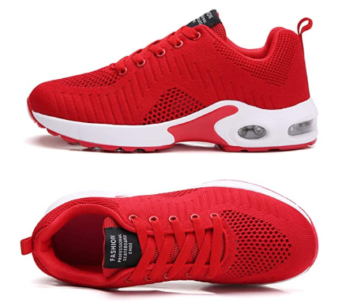 11. TSIODFO Athletic Red Running Shoes for Gym and Sport Sneakers