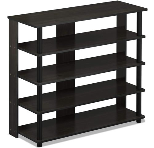 12. Furinno Turn N Tube 5 Tier Wooden Shoe Rack