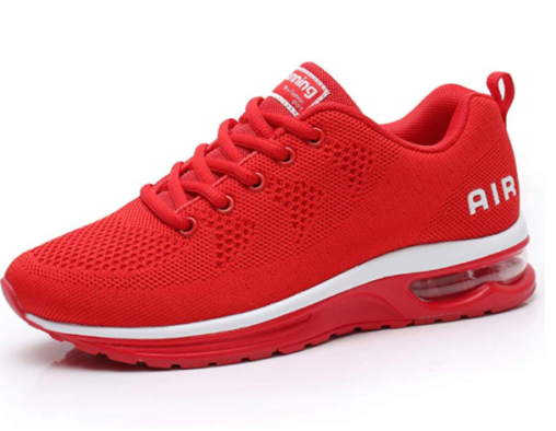 12. RUMPRA Lightweight Athletic Air Fashion Red Running Shoes1