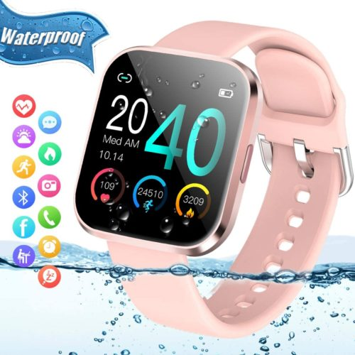 13. Peakfun Waterproof Sports Fitness Bluetooth Smart Watches with Heart Rate Blood Monitor