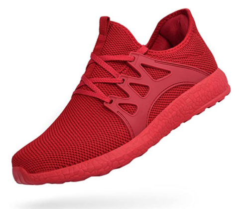 13. Troadlop Air Knitted Red Running Shoes
