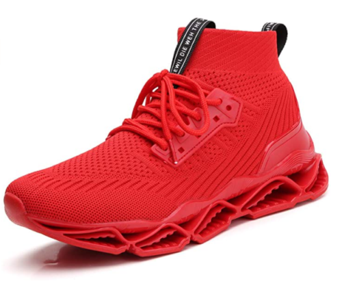 14. Exkrwxn Athletic Mesh Sport Red Running Shoes