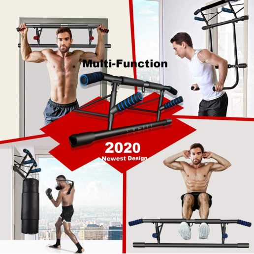 14. Kaufam Upgraded Perfect Portable Pull Up Bars Workout Equipment for Doorway with Hook