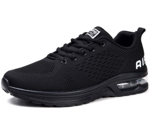 14. STQ Women Black Running Shoes with Breathable Air Sneakers