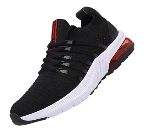 14. TUBYGO Black Running Shoes for Men with Air Cushion