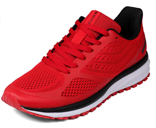 15. WHITIN Lightweight Road Red Running Shoes with Breathable and Cushion Sneakers