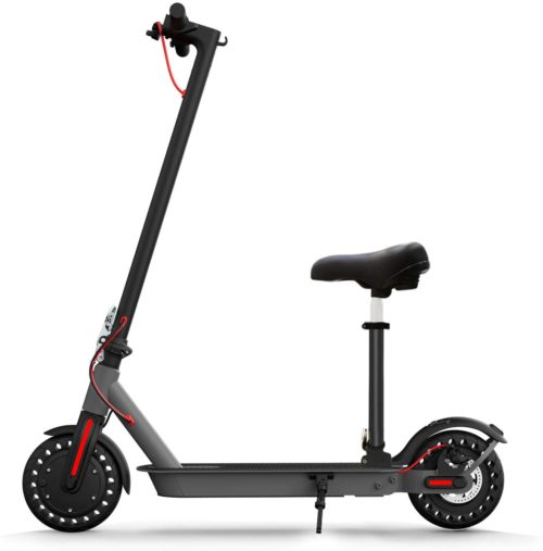 2. Hilboy Electric Scooters with Seat and Double Braking for Adults