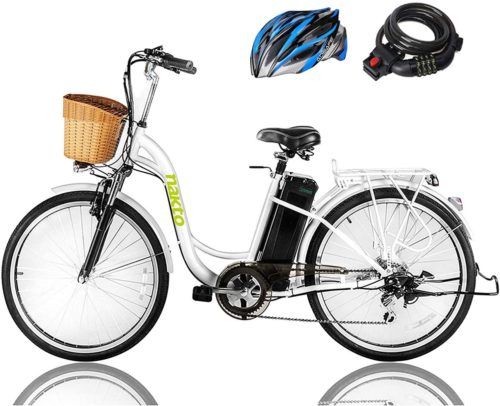 2. NAKTO Electric Bike - Best Electric Bike Under 1000 with Removable Waterproof Battery