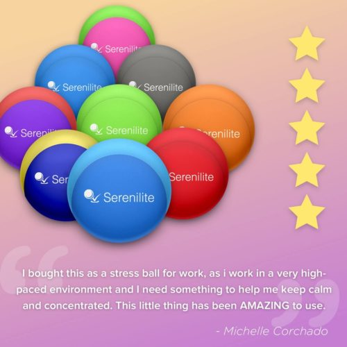 2. Serenilite Hand Therapy Stress Exercise Ball for Finger Strengthen