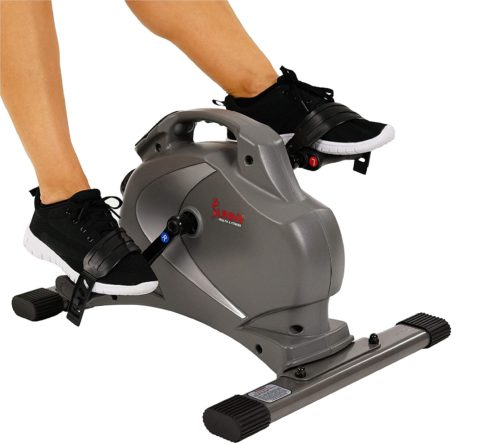 2. Sunny Health & Fitness Magnetic Mini Exercise Bike with Low Profile Design