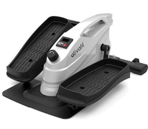 3. ATIVAFIT Under Desk Compact Elliptical Exerciser with Monitor Display and Adjustable Resistance - Best Buy Mini Compact Elliptical Machine