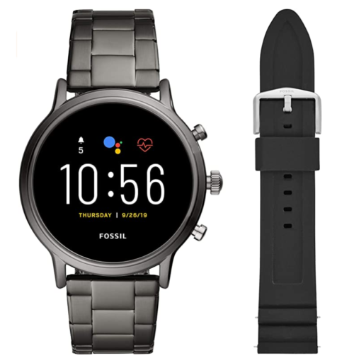 3. Fossil SmartWatch Men with Gen 5 Stainless Steel and Touchscreen