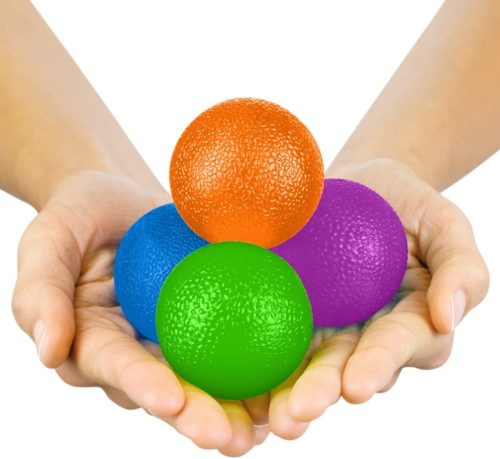 3. Vive Hand Exercise Ball Squishy Stress and Pain Relief Finger Strengthen