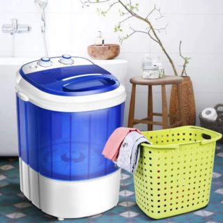 4. COSTWAY Mini Portable Washing Machine with Timer Control - Cheap Washing Machines Under 200