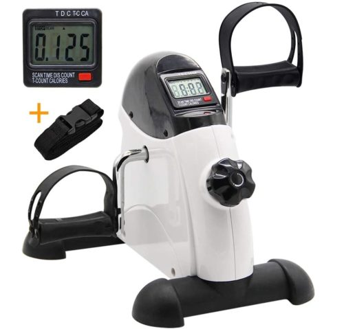 4. Hausse Portable Mini Exercise Bike with LCD Display Monitor - Mini Exercise Peddler Under Desk Bike for Arm and Leg