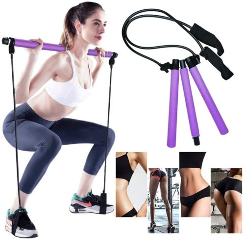 5. Gomi Portable Pilates Bar Exercise Kit with Resistance Band and Foot Loop