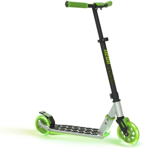 6. Neon Flash 2 Wheel Scooter for Kids with LED Light Up Deck - 2Wheel Kick Scooter