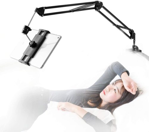 6. Samhousing Aluminum Arm Phone Holder for Bed Mount with Adjustable 360 Rotation