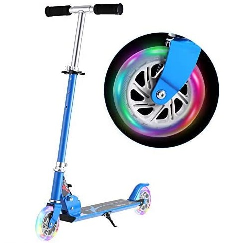 7. Hikole 2 Wheel Scooter for Kids with Folding Adjustable Height and LED Light Up - Toddler Scooter