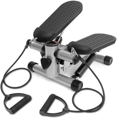7. Techmo Mini Stepper Machine Fitness with Adjustable Height and LCD Monitor - Mini Air Climber Machine