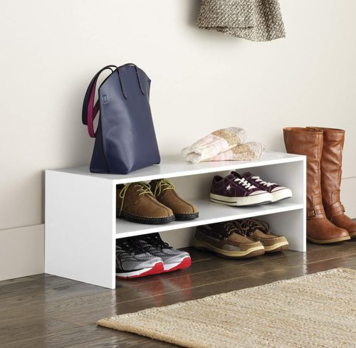 7. Whitmor Stackable Wood Shoe Rack Shelf