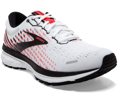 8. Brooks Ghost 13 Women White Running Shoes for Bad Knees
