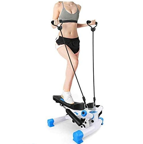 8. Eletina Indoor Adjustable Mini Stepper Machine with Resistance Bands