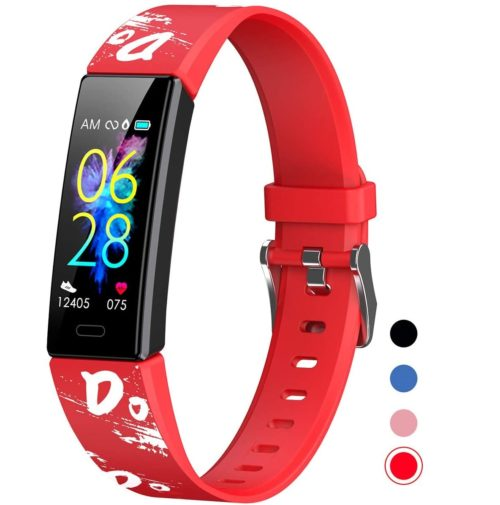 9. Mgaolo Fitness Tracker for Kids with Blood Pressure and IP68 Waterproof