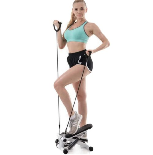 9. Pikolia Portable Mini Stepper with Resistance Bands for Men and Women Fitness
