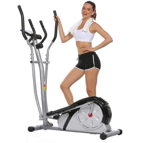 Aceshin Compact Elliptical Machine Trainer Fitness Equipment for Home and Office Workout