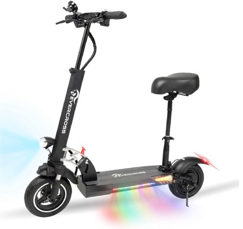 EverCroos Folding Electric Scooter with Seat for Adults