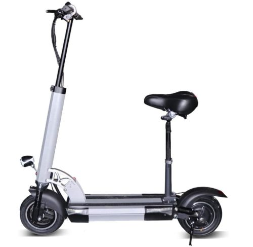 Jue Shuai Foldable Rechargeable Electric Scooter with Seat for Adults